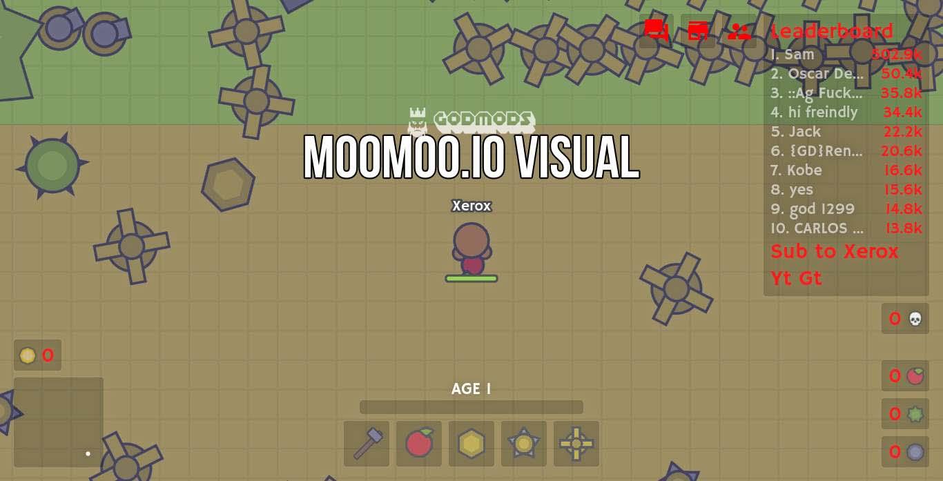 Moomoo.io Basic Mod Hack Gameplay